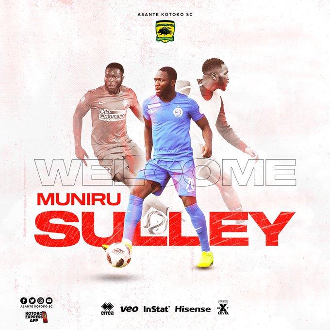 Sulley Muniru joins Asante Kotoko