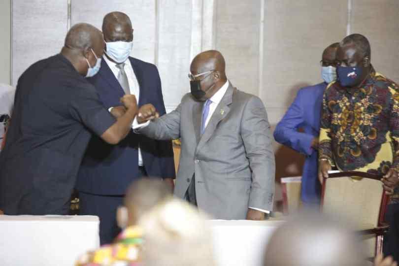 Akufo-Addo, Mahama, pledge to commit to peace