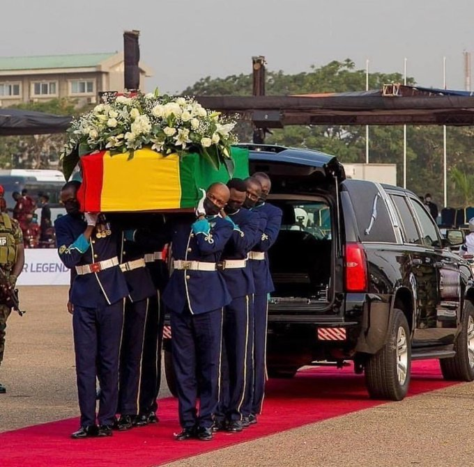 Rawlings' burial service underway at Black Star Square