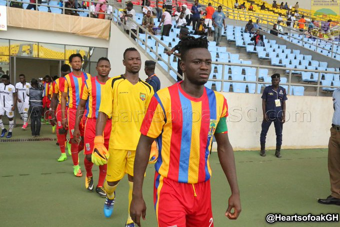 Hearts skipper Fatawu laments absence of fans at home matches