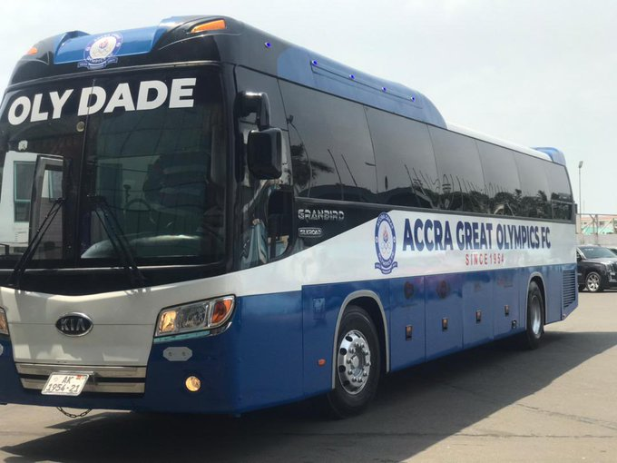 Accra Great Olympics unveil new Bus