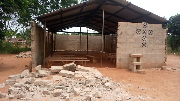 One in critical condition after uncompleted Church building collapses at Adetsewui