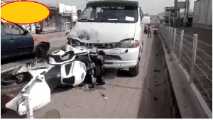 Kasoa in the news again as Trotro driver crashes police dispatch rider