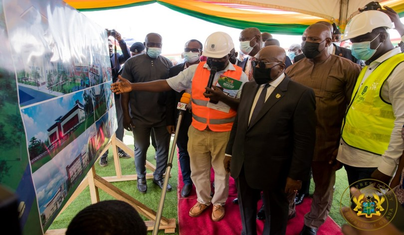 President Akufo-Addo cuts sod for construction of phase 1 of law School village