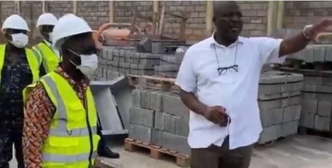 Osafo Marfo Tours Ibrahim Mahama's Cement plant