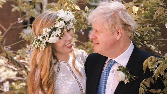 UK PM Boris Johnson marries for the third time