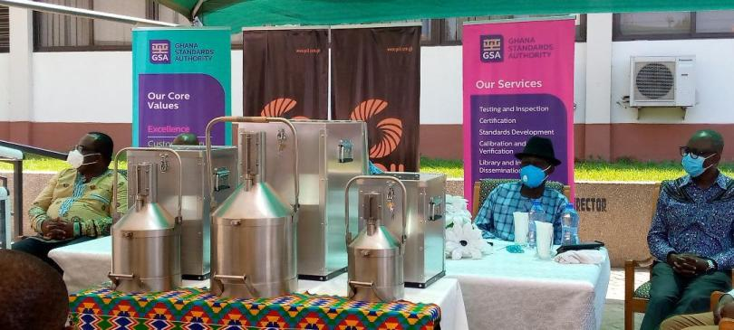 GOIL presents visigauges to Ghana Standards Authority