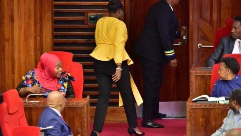 Female MPs in Tanzania have called for an apology to an MP who was ordered to leave Parliament because of her trousers.