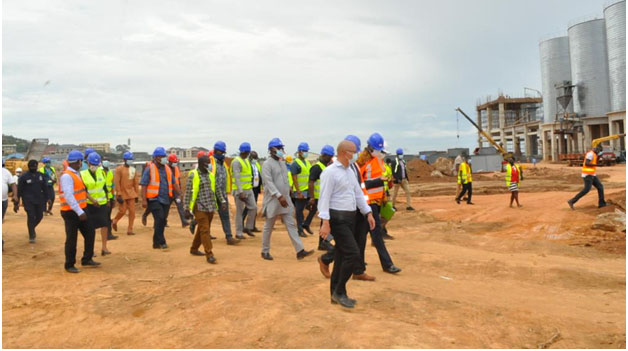 MPs Visit Panbros, New Cement Factory