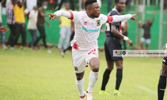 Kotoko skipper Emmanuel Gyamfi charged for misconduct for stamp on Inter Allies player