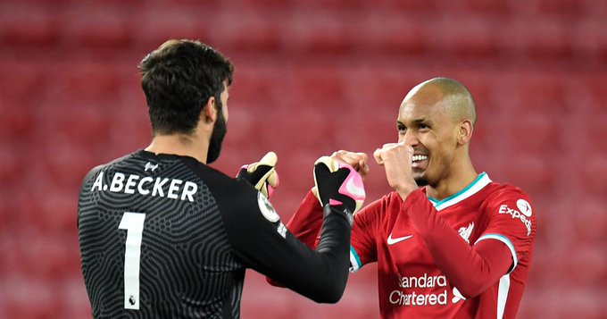 Liverpool make Alisson Becker and Fabinho contract decision