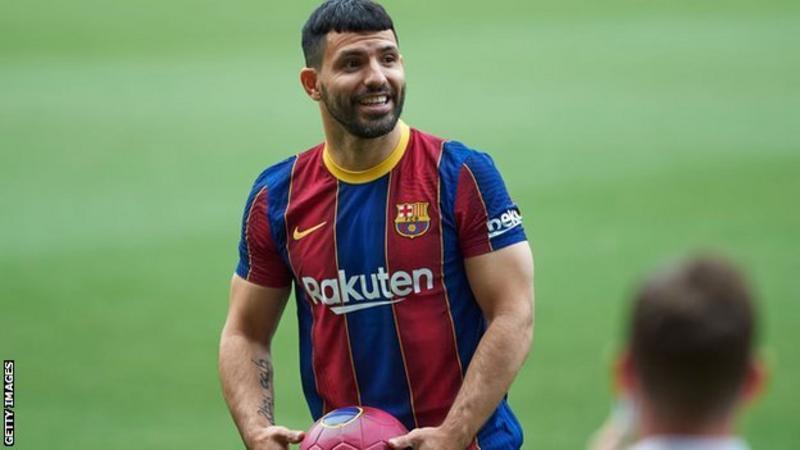 Sergio Aguero: Barcelona striker to miss 10 weeks with calf injury