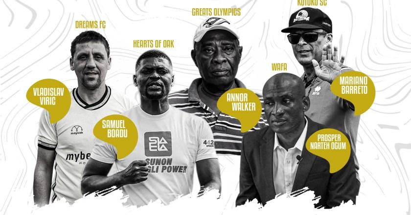 Coach Samuel Boadu, Mariano Barreto others nominated for GPL coach of the season award