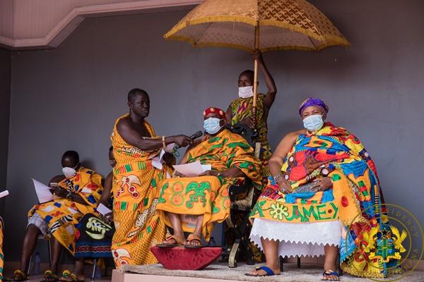 """""""Berekum's transformation the result of your leadership"""" – Berekum Omanhene to President Akufo-Addo"""