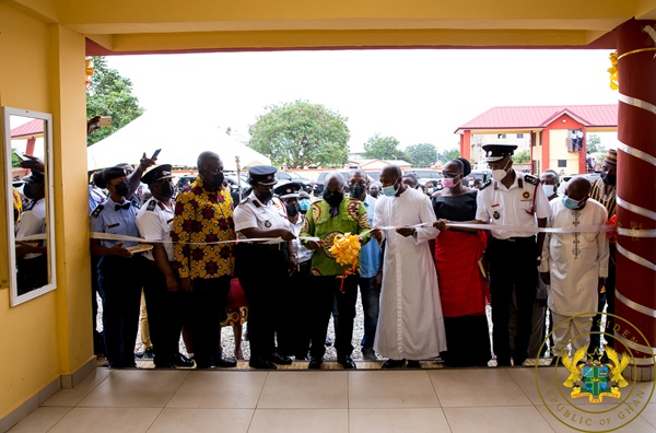 President Akufo-Addo Commissions Bono Region Fire Service HQ; Sunyani Hospital Maternity Block; 3BN Admin Office