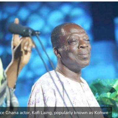 Veteran Ghanaian actor Kohwe dies at 75
