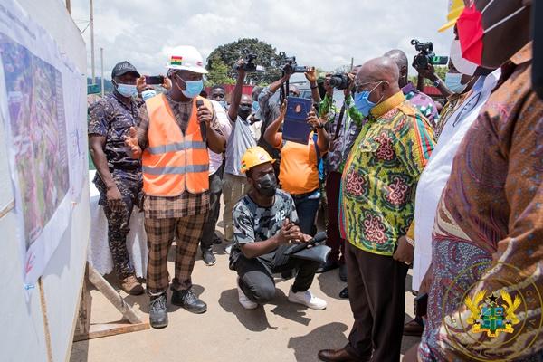 President Akufo-Addo Inspects €4 Million Atibie Hospital Project; $77 Million Mpraeso-onyimso Road