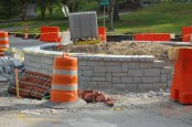 Granite Walls Go Up on Roundabout
