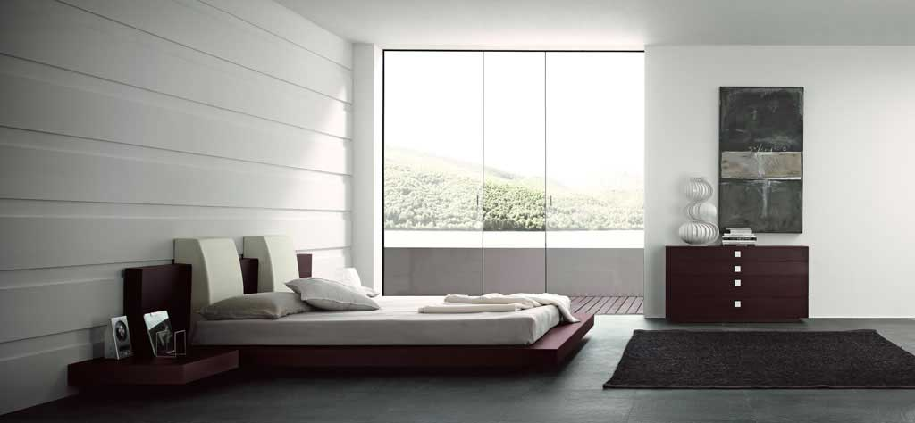 Modern And Simple Open Bedroom Decor