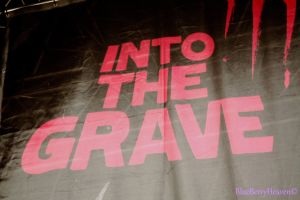 into the grave banner