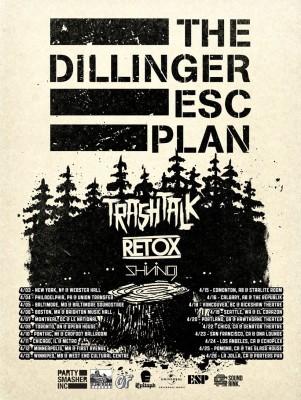 DillingerEscapePlan-TrashTalk-Retox-Shining-NorthAmericanTour2014FlyerLarge