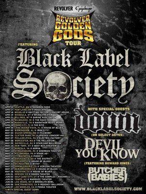 golden gods tour
