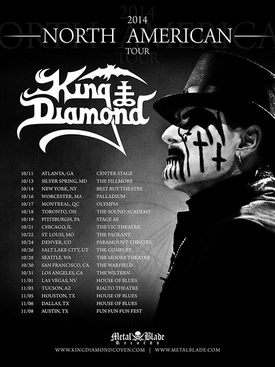 King diamond fall us tour