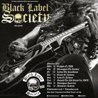 Black Label Society UK Tour Poster