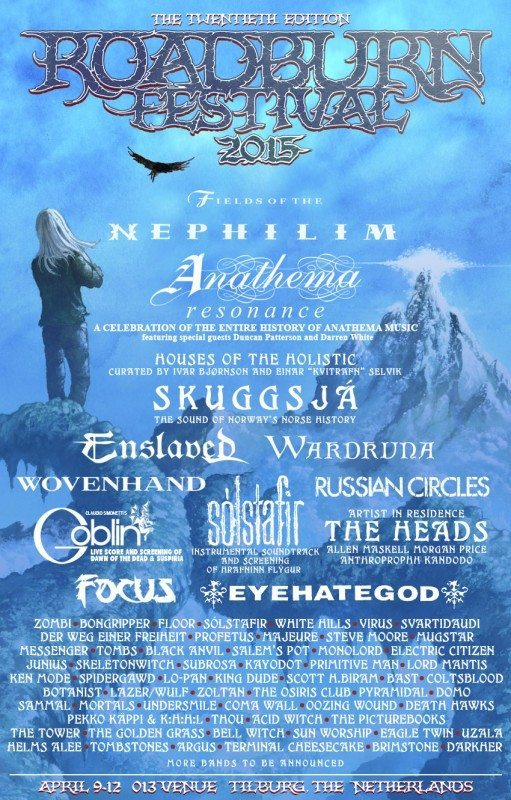 Roadburn full line up Nov 12