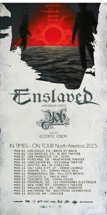 enslaved yob tour