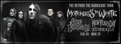 motionless in white the beyond the barricade tour