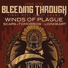 bleeding through west coast final shows