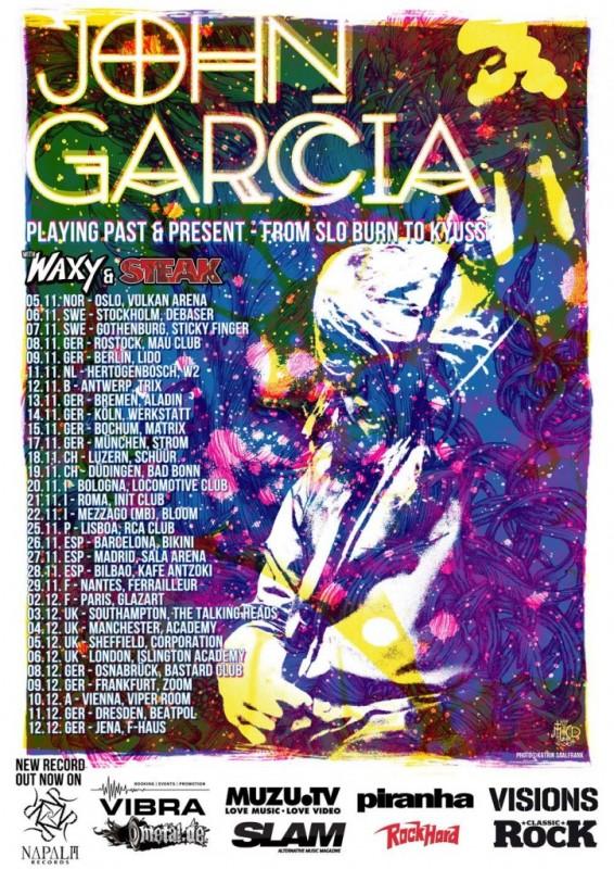 john garcia uk tour poster