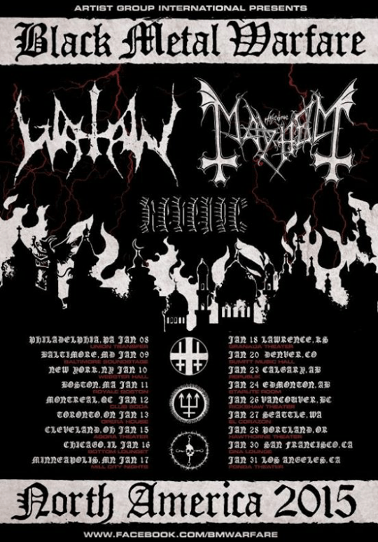 mayhem and watain us tour poster 2015