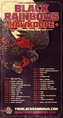 black rainbows hawkdope european tour