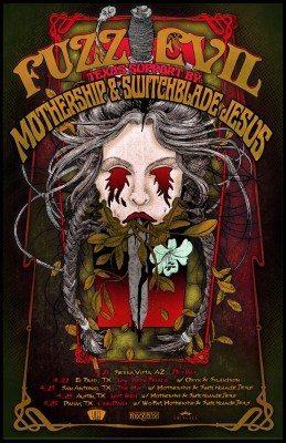 fuzz evil tour poster