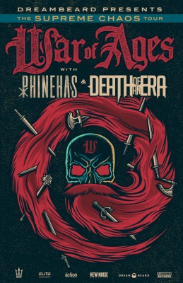 war of ages phinehas death of an era tour poster