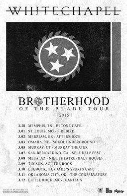 whitechapel brotherhood of the blade tour