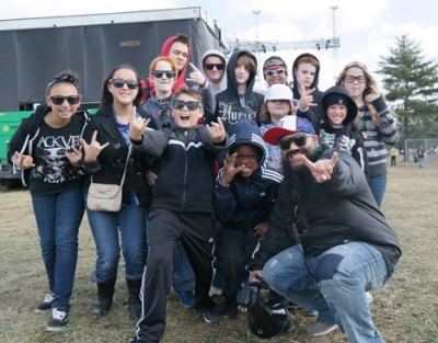"Students and Mark ""Squiggy"" DiGiacomo tour the LOUDER THAN LIFE 2014 festival grounds in Louisville"