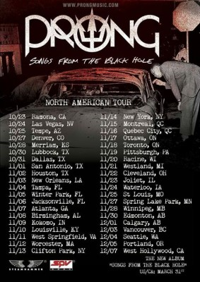 prong north american tour 2015