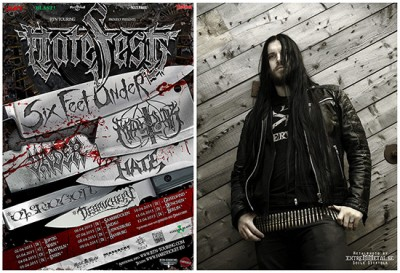 Bassist Victor Brandt of Entombed AD will fill in for Six Feet Under on the upcoming Hatefest Tour.