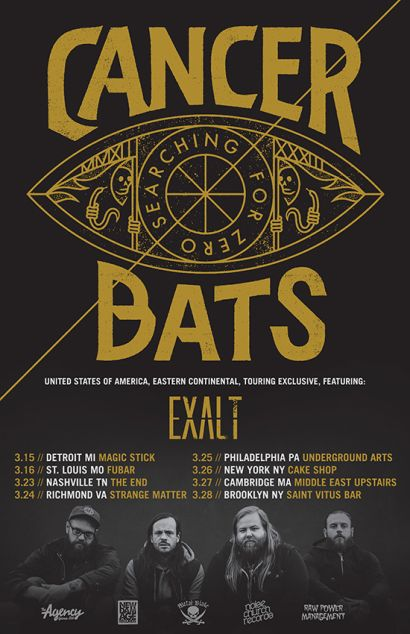 cancer bats headline tour poster