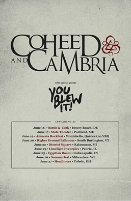 coheed and cambria you blew it tour