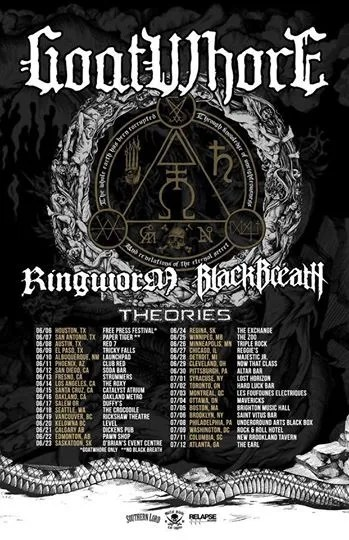 goatwhore ringworm black breath theories tour