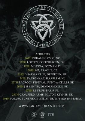 grieved european 2015 tour