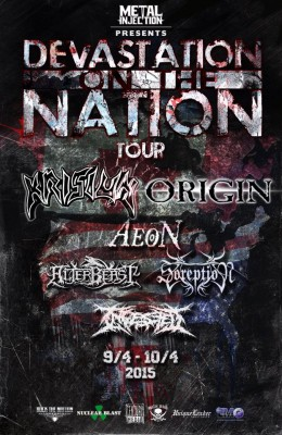 krisiun origin north american tour
