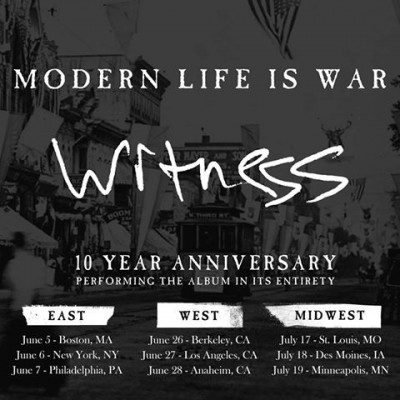 modern life is war 10 year anniversary tour