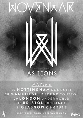 wovenwar as lions uk tour