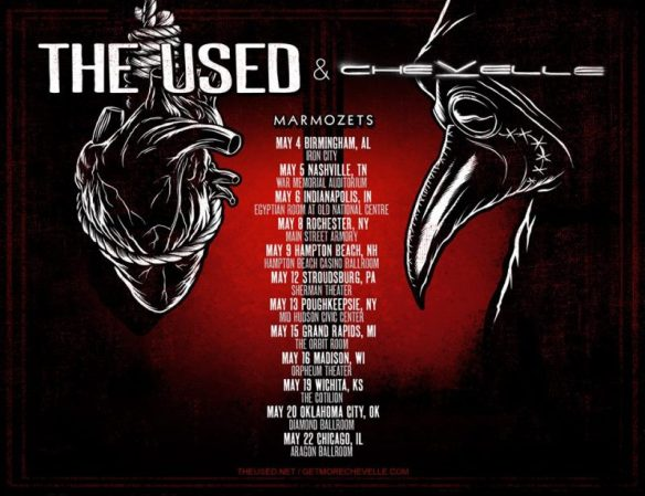 The_Used_-_Chevelle_-_Summer_Tour_2015