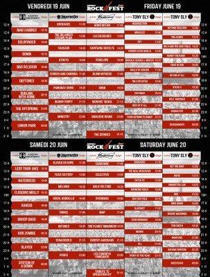 amnesia rockfest 2015 set times